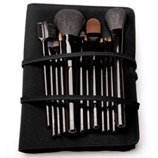 Large Professional Brush Set in Black Roll
